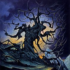 With Roots Above and Branches Below by Dan Seagrave  Acrylic on board  12.8'' x 12.8''  2009    Album cover for The Devil Wears Prada's 2009 release. 'With Roots Above and Branches Below'.