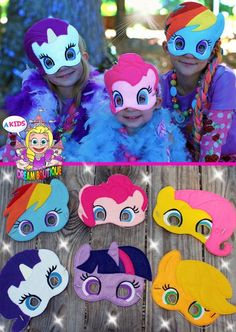 My Little Pony Mask Pinkie Pie costume Rainbow Dash Mask Fluttershy Apple Jack Mask Twilight Sparkle Mask Rarity Mask Pony mask MLP costume by AKidsDreamBoutique on Etsy My Little Pony Party, My Little Pony Rainbow, Cumple My Little Pony, My Little Pony Costume, My Lil Pony, Rainbow Dash Birthday, Rainbow Dash Party, Unicorn Birthday, Unicorn Party