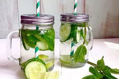 Cucumber Mint & Lime Detox Water recipe on Healthy Meals To Cook, Healthy Detox, Healthy Drinks, Healthy Snacks, Water Recipes, Detox Recipes, Smoothies, Cucumber Detox Water, Fast Metabolism Diet