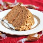 Healthy Peanut Butter Banana Cake with Caramel Frosting - Healthy Dessert Recipes at Desserts with Benefits