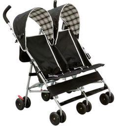 Baby Stroller Delta Children's Products DX Double Umbrella Side Carriage Black  #DeltaChildren