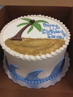 Fun Beach Day Birthday Cake!