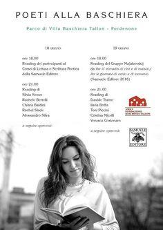 POETI ALLA BASCHIERA - 18 e 19 giugno, Pordenone - info su www.samueleeditore.it #poesia  #samueleeditore