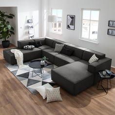 Wohnlandschaft Kinx Webstoff Living Landscape Kinx Woven Fabric - Fashion For Home Sofa Design, Canapé Design, Furniture Design, Small Room Bedroom, Bedroom Decor, U Couch, Sofa Bed, Sectional Sofa, Interior Design Living Room