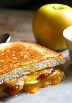 Grilled Cheese Sandwiches with Green Apples & Bacon | Alaska from Scratch