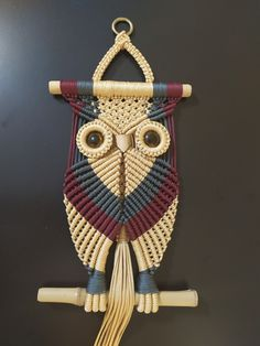 Macrame Toran Patterns, Macrame Toran Designs, Macrame Design, Macrame Owl, Micro Macrame, Owl Crochet Patterns, Macrame Wall Hanging Diy, Macrame Projects, Macrame Tutorial