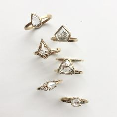 rose cut diamond rings :: Alexis Russell