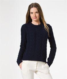 Wool & cotton cable knit sweater - Petit Bateau