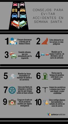 Consejos para evitar accidentes en semana santa #infografia