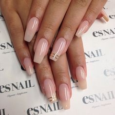 Nailspiration: Loving this shape... color & design is so simple but pretty