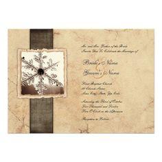 photos of beautiful winter wedding invitations | Winter Snowflake Vintage Wedding Invitations at Zazzle.ca