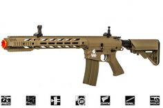 It's polymer, but a great look and only $120!  Lancer Tactical Polymer M4 Interceptor SPR AEG Airsoft Gun ( DE )
