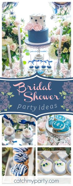 f0f61f8f3ca4 Navy and Blush Pink Luncheon   Bridal Wedding Shower