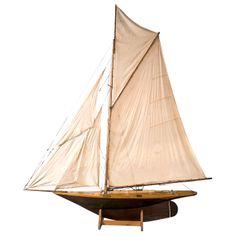 Large Pond Yacht Model - England - 1900