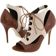 Elizabeth and James booties, $225 at Zappos. I love the look! Wonder if I could DIY some snazzy spats for some plain peep-toe pumps?
