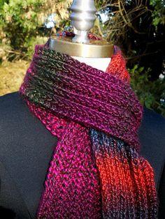 Garter Slip Rib Scarf colorful soft warm winter knitted scarf