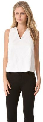 Vince Leather Silk Shell Top Vince