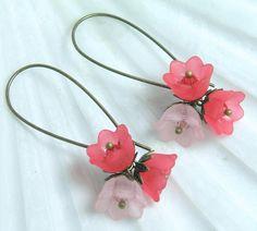 Sweet Cherry Lily Earrings