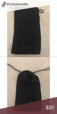 Chanel Sunglass Dust Bag Authentic Chanel Black dust bag to be used with sunglasses or glasses. Never used. CHANEL Accessories Sunglasses