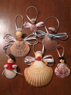 Seashell Christmas Ornaments (Photo by Jody Diehl)