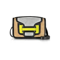 Pierre Hardy Handbags Alpha Multicolor Suede & Black Leather Crossbody... (€450) ❤ liked on Polyvore featuring bags, handbags, clutches, black, suede crossbody, genuine leather handbags, crossbody purses, hand bags and suede handbags