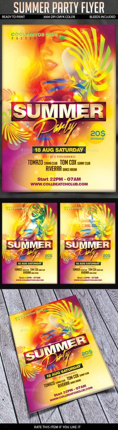 Summer Party Flyer Template Psd Download Here Http