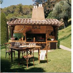 Having an outdoor kitchen is a lot of fun. The hard part is coming up with unique outdoor kitchen ideas! Check out these 37 outdoor kitchen designs that will blow your mind. Outdoor Rooms, Outdoor Dining, Outdoor Decor, Outdoor Kitchens, Dining Area, Dining Rooms, Outdoor Oven, Outdoor Cooking, Gazebo