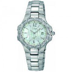 Hoppe Jewlers - SEIKO LDS WHT BRAC/RD MOP DIAL W/ DATE/12RD DIA BEZ WATCH, $345.6 (http://www.hjoutlet.com/seiko-lds-wht-brac-rd-mop-dial-w-date-12rd-dia-bez-watch/)