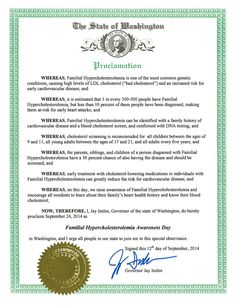FH Awareness Day - Official Proclamation