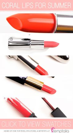 5 Bright Coral Lipsticks to Try This Summer