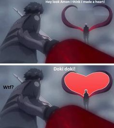 Tokyo Ghoul, amon and kaneki, heart doki doki