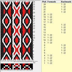 22 tarjetas, 3 colores, secuencia 4F-4B // sed_1020 diseñado en GTT༺❁ More