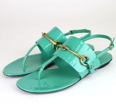 Gucci Patent Leather Thong W/metal Horsebit 38/8 318072 New Green Sandals. Get the must-have sandals of this season! These Gucci Patent Leather Thong W/metal Horsebit 38/8 318072 New Green Sandals are a top 10 member favorite on Tradesy. Save on yours before they're sold out!