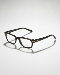 9427ec9a3c Tom Ford Unisex Semi-Rounded Rectangular Fashion Glasses Tom Ford Glasses