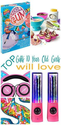 The Ultimate Gift Guide for 10 year olds! Find the top birthday gifts that a 10 year old will love! Shopping for a 10 year old can be hard. so here are some of the best birthday gift ideas to help you. Best Birthday Gifts, Birthday Gifts For Girls, Girl Birthday, 11th Birthday, Birthday Wishlist, Birthday Presents, Birthday Ideas, Nine Year Old Christmas Gifts, 10 Year Old Gifts