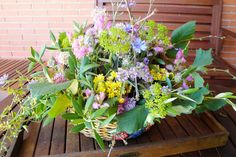 centre de taula amb flor silvestre