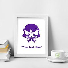 STICKERSLUG Custom Text Zombie Vampire Skull Vinyl Wall Sticker Decal 5 inches matte purple *** Check this awesome product by going to the link at the image.Note:It is affiliate link to Amazon.