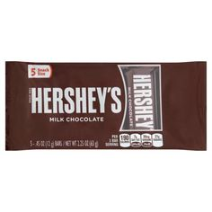 Free 2-day shipping on qualified orders over $35. Buy Hershey's Milk Chocolate Bars Snack Size, .45 oz, 5 count at Walmart.com