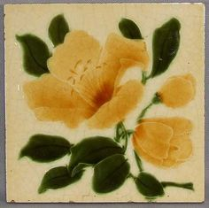 English Art Nouveau Tile, c. 1900