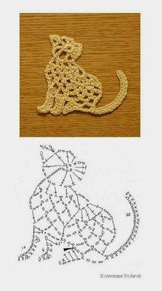 Hobby lavori femminili - ricamo - uncinetto - maglia: vari gatti uncinetto