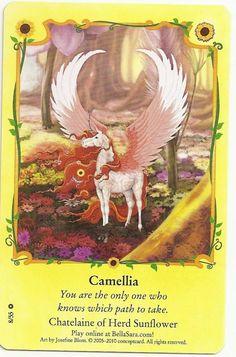 BELLA SARA SUNFLOWERS NON-FOIL CARD#8/55-CAMELLIA | eBay