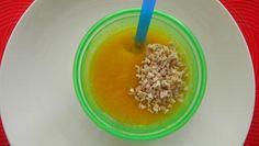 Tekvicová polievka s králičím mäsom (biela tekvica, hokaido, kaleráb, kukuričná krupica)