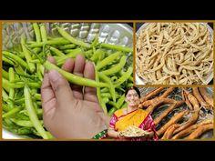 చల్ల మిరపకాయల తయారీ విధానం|oora mirapakayalu recipe in telugu|uppu mirakayalu|majjiga mirapakayalu - YouTube Mirchi Ka Salan, Sun Dried, Asparagus, Green Beans, Cooking Recipes, Vegetables, Food, Studs, Chef Recipes