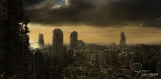 Post-apocalyptic cityscape