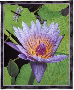 Amazing water lily quilt by Barbara McKie.
