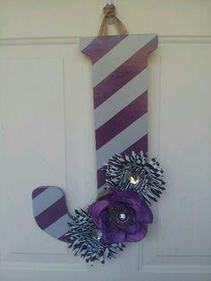 DIY letter door hanger