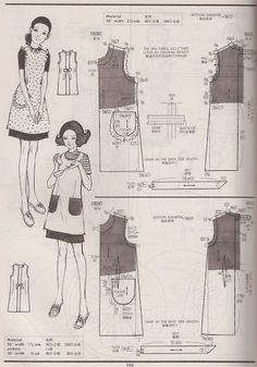 Vintage aprons- Kamakura -Shobo Publishing Co. Pattern Drafting Books vol.1,2,3 published 1967,1970,1972