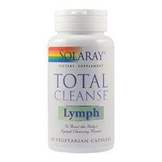 Total Cleanse Lymph Solaray, 60 capsule, Secom :  Farmacia Tei Yerba Mate, Centella, Coconut Oil, Vegetarian, Food, Pharmacy, Varicose Veins, Plant, Meal