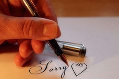 Ne pas savoir dire pardon