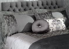 LUXURY DAMASK BEDDING - Faux Silk Quilt Cover Jacquard Duvet Cover Bed Set Granite ( charcoal grey silver ) King Size Duvet Cover ( kingsize ):Amazon.co.uk:Kitchen  Home
